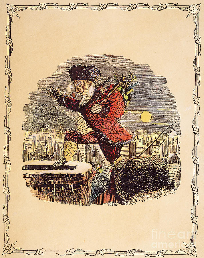 Santa Claus, 1848 Photograph