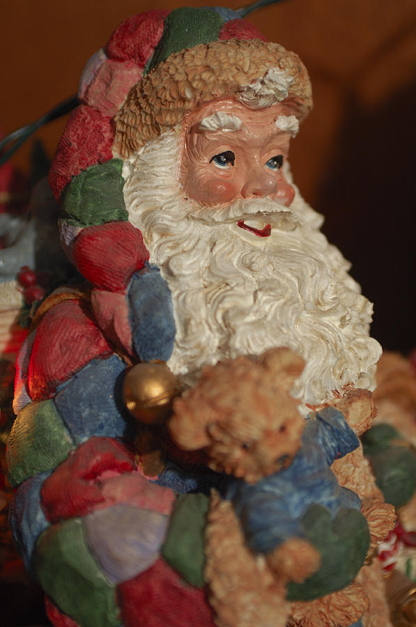 Santa Claus - Antique Ornament - 03 Photograph  - Santa Claus - Antique Ornament - 03 Fine Art Print