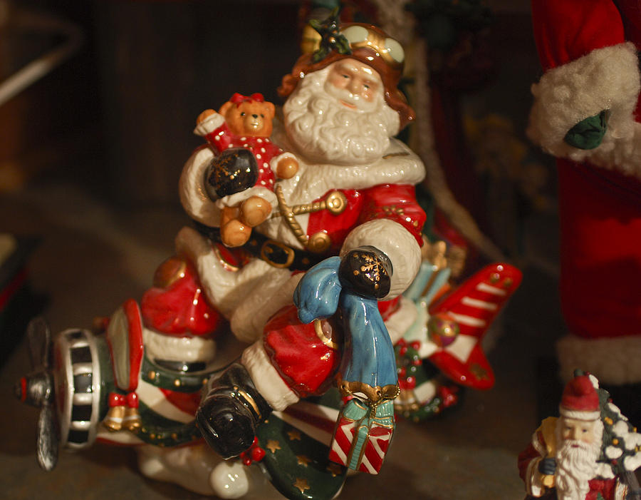 Santa Claus - Antique Ornament -05 Photograph  - Santa Claus - Antique Ornament -05 Fine Art Print