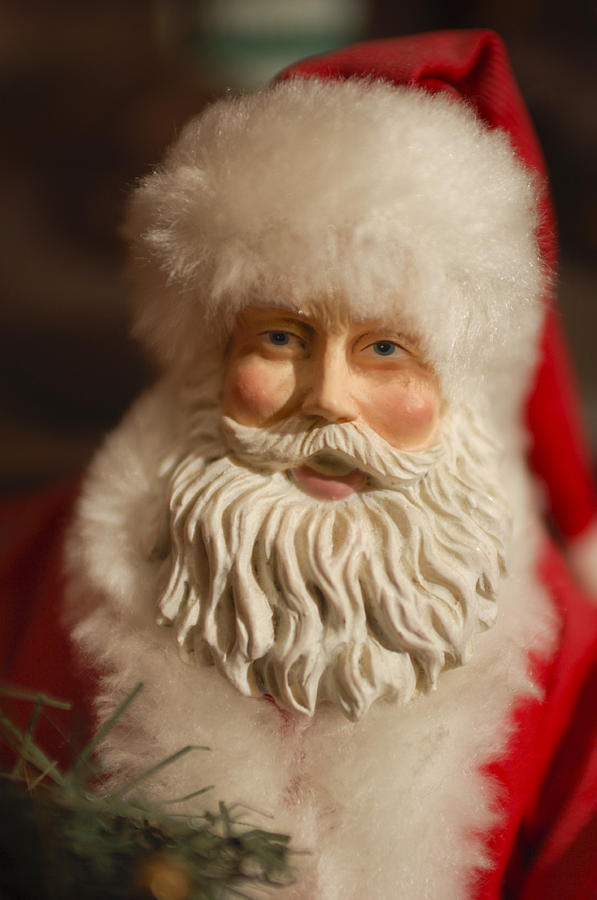 Santa Claus - Antique Ornament - 07 Photograph  - Santa Claus - Antique Ornament - 07 Fine Art Print