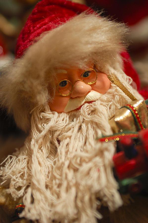 Santa Claus Photograph - Santa Claus - Antique Ornament - 08 by Jill Reger