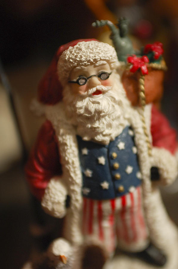 Santa Claus - Antique Ornament - 15 Photograph  - Santa Claus - Antique Ornament - 15 Fine Art Print
