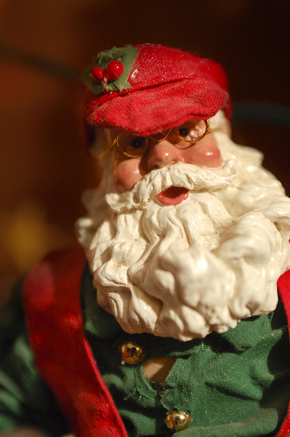 Santa Claus - Antique Ornament - 16 Photograph  - Santa Claus - Antique Ornament - 16 Fine Art Print