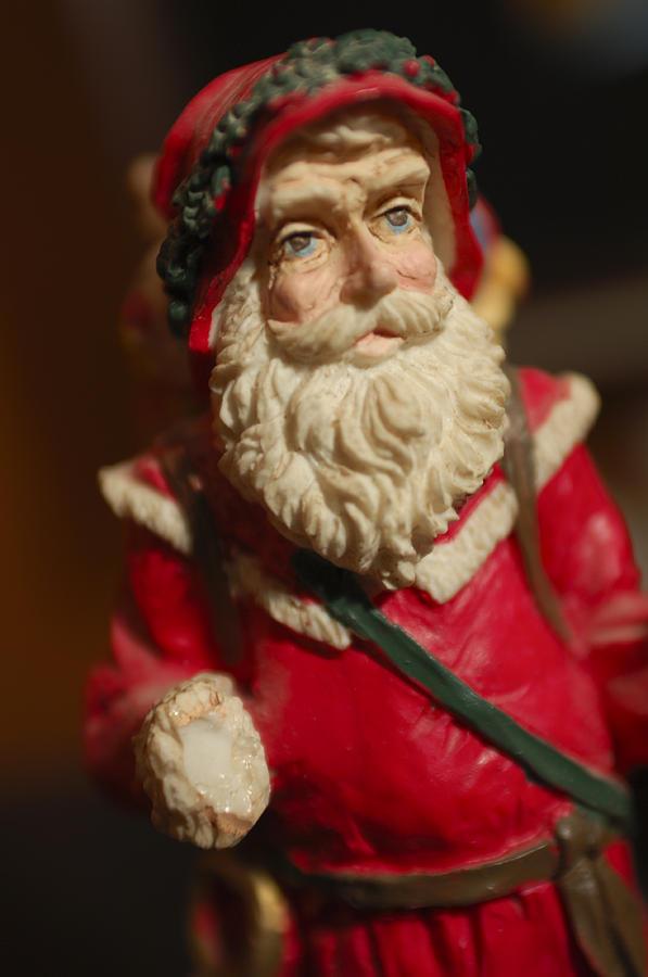 Santa Claus Photograph - Santa Claus - Antique Ornament - 21 by Jill Reger