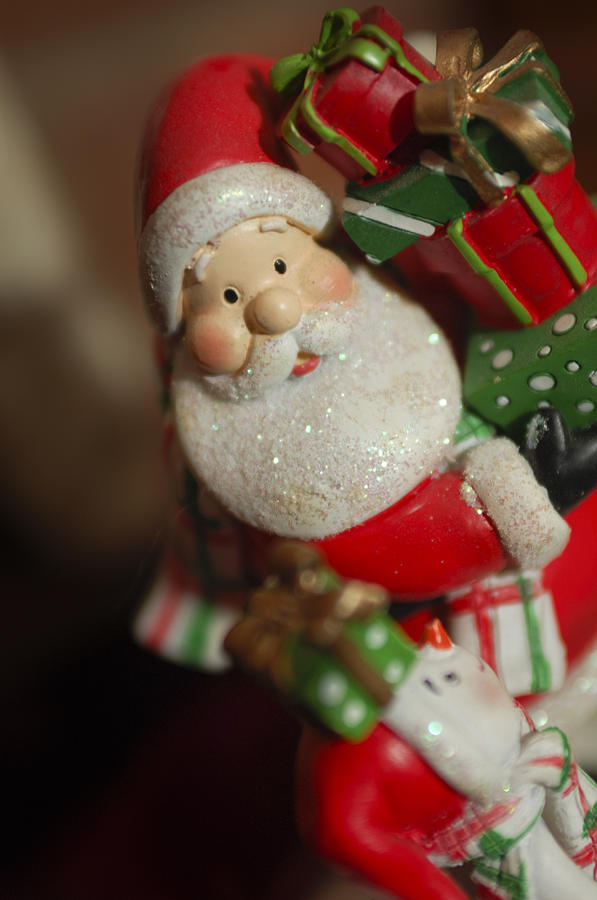 Santa Claus - Antique Ornament - 28 Photograph  - Santa Claus - Antique Ornament - 28 Fine Art Print