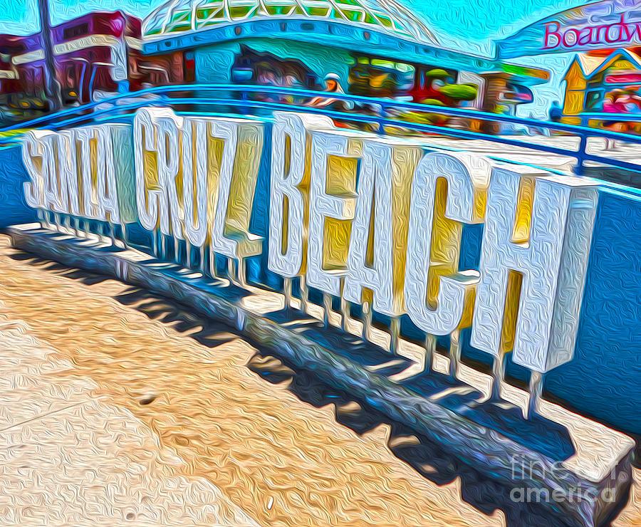 Santa Cruz Boardwalk Sign Painting