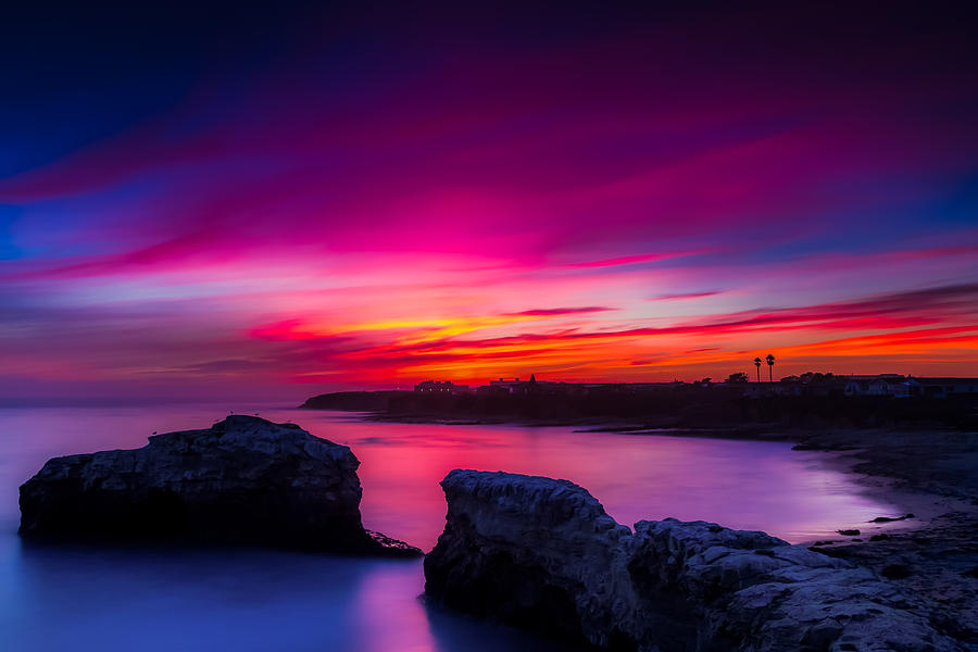 Santa Cruz Photograph - Santa Cruz Cliffs Sunset Photo Santa Cruz California by Dave Gordon