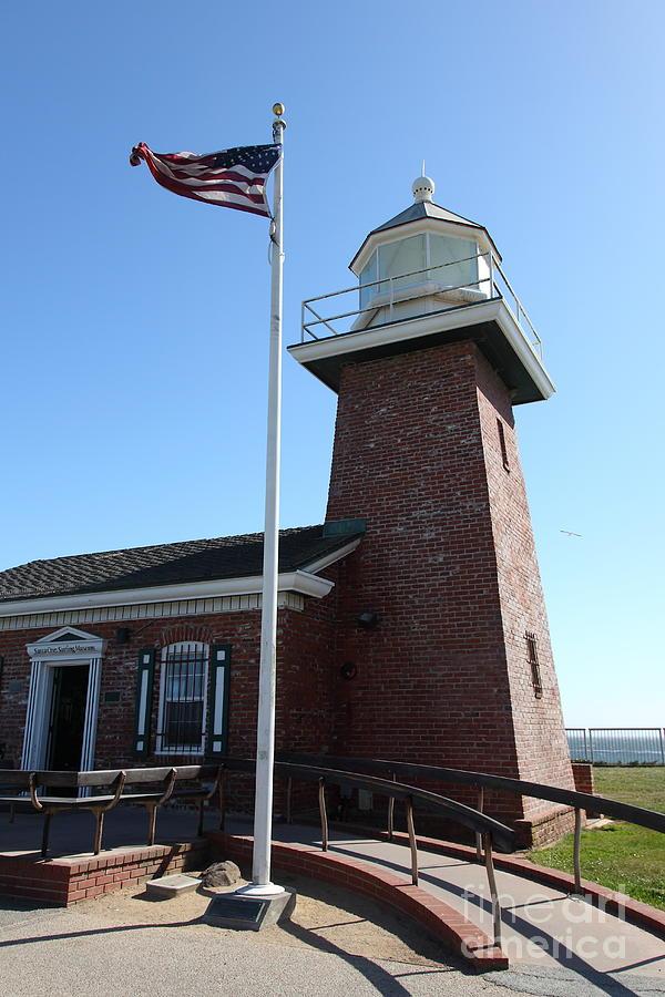 California Photograph - Santa Cruz Lighthouse Surfing Museum California 5d23948 by Wingsdomain Art and Photography