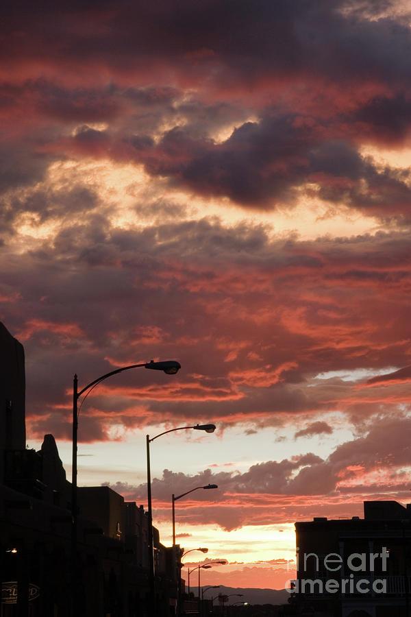 Santa Fe At Dusk New Mexico Photograph