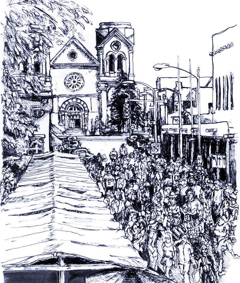 Santa Fe Market Drawing