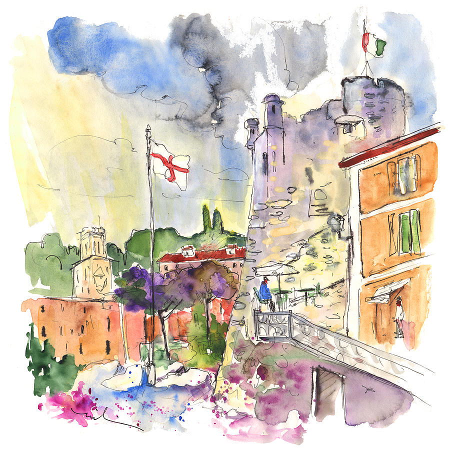 Santa Margherita In Italy 07 Painting  - Santa Margherita In Italy 07 Fine Art Print
