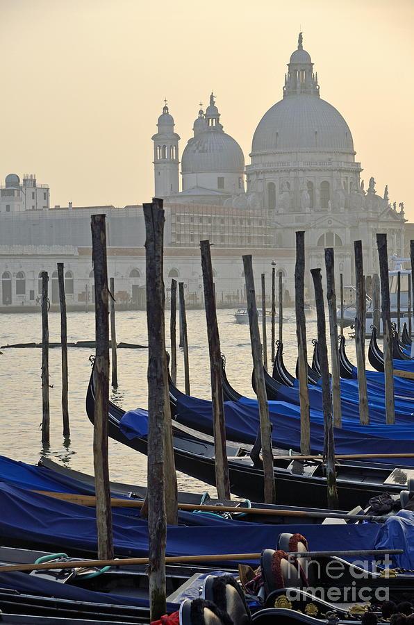 Santa Maria Della Salute By Gondolas Photograph