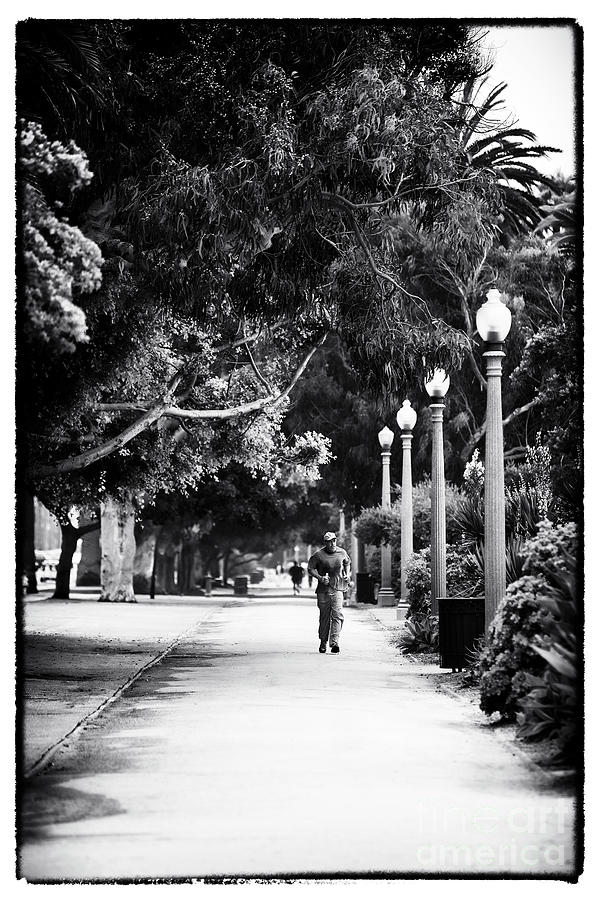 Santa Monica Jogging Photograph