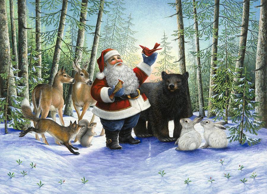 Santas Christmas Morning Painting