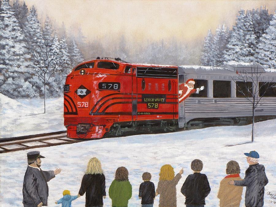 Santas Miracles Painting