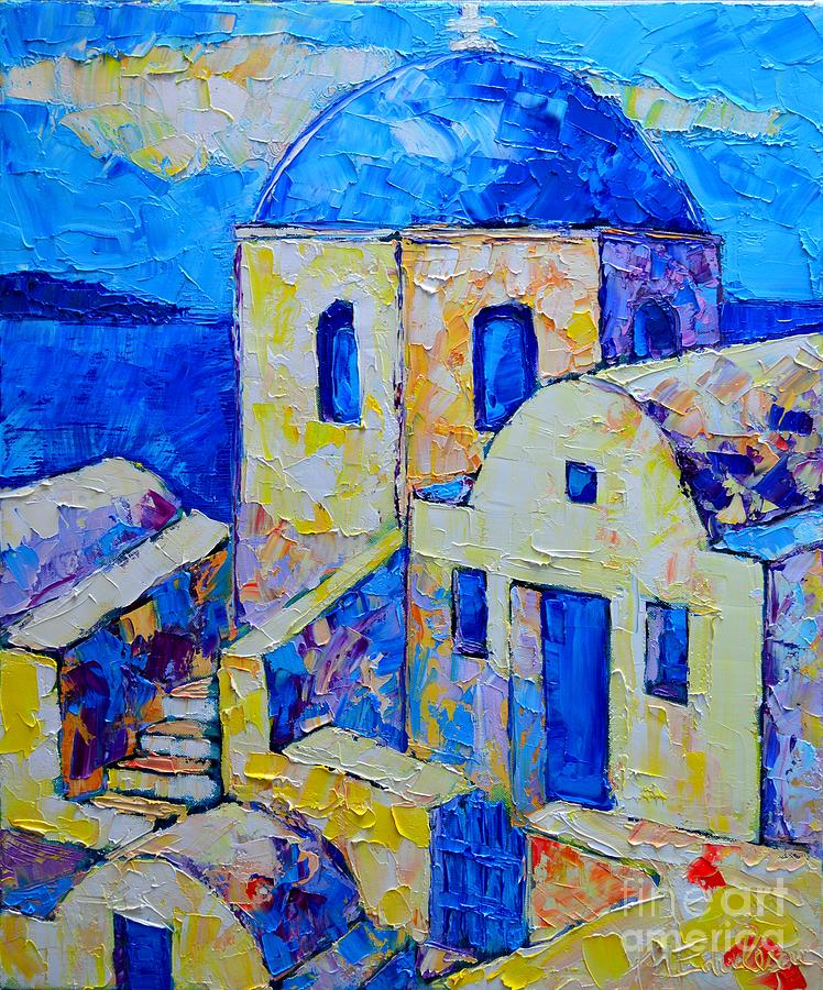 Santorini Afternoon Painting