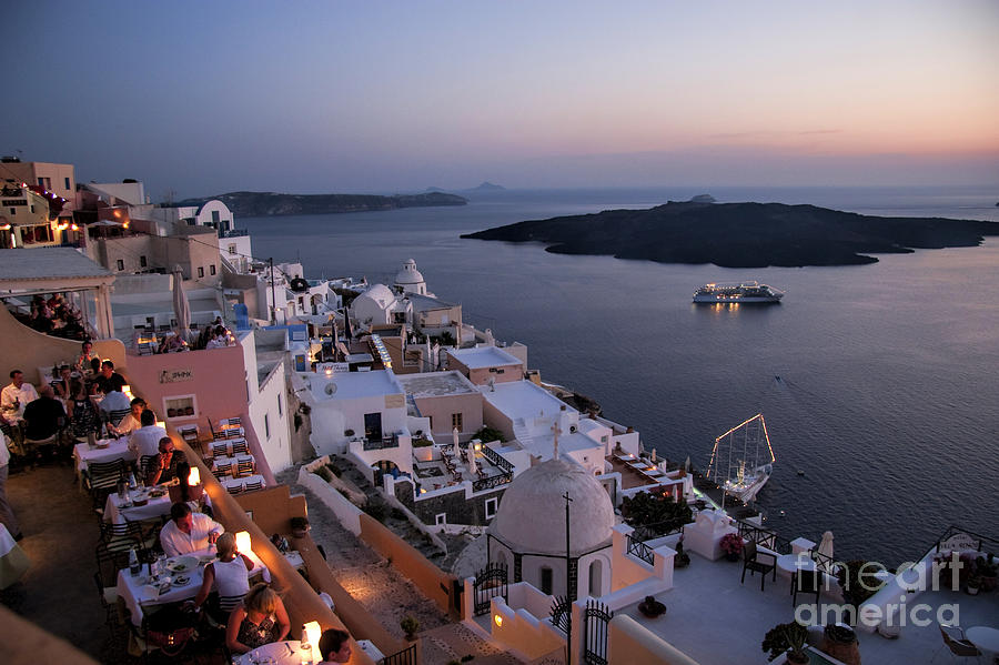 Santorini At Dusk Photograph