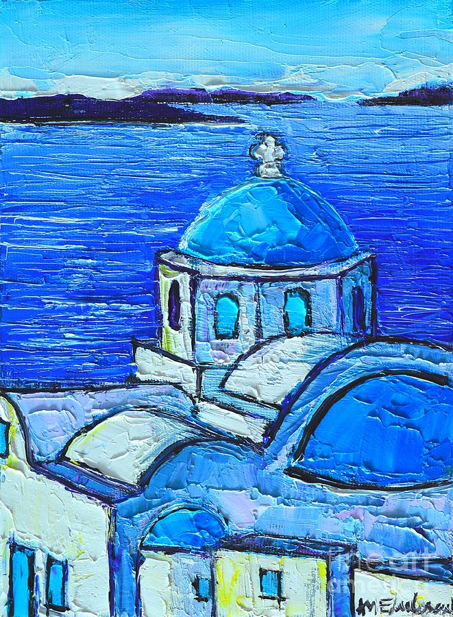 Santorini  Blue Painting