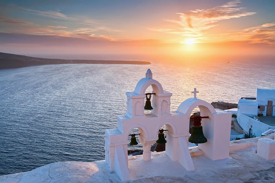 Santorini Sunset is a photograph by Evgeni Dinev which was uploaded on ...