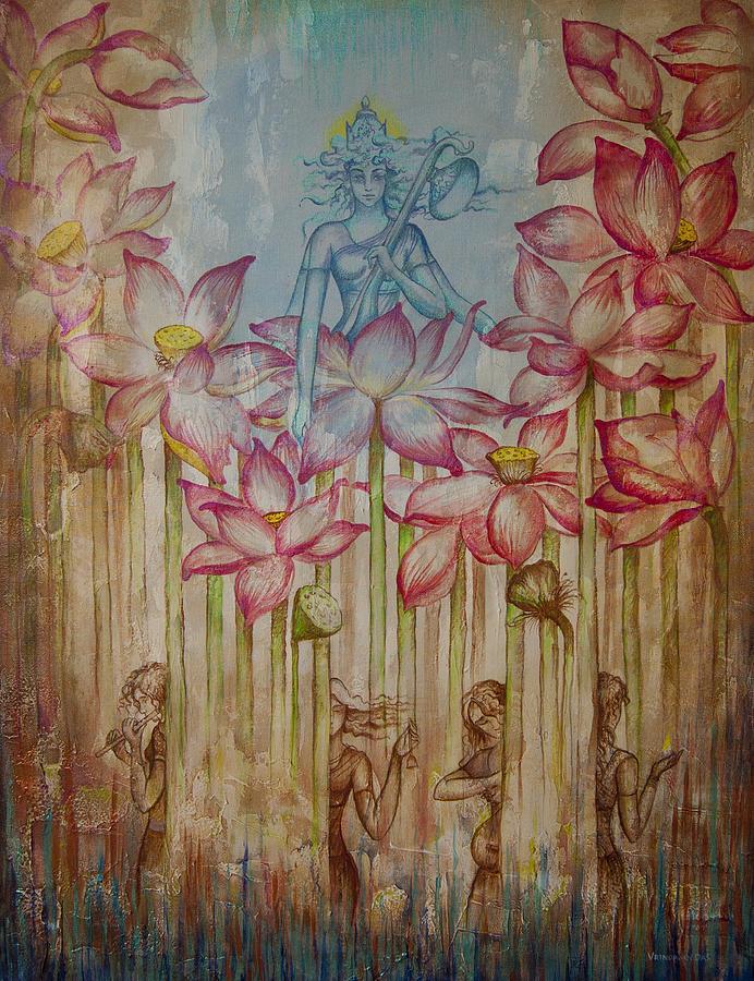 Sarasvati Painting