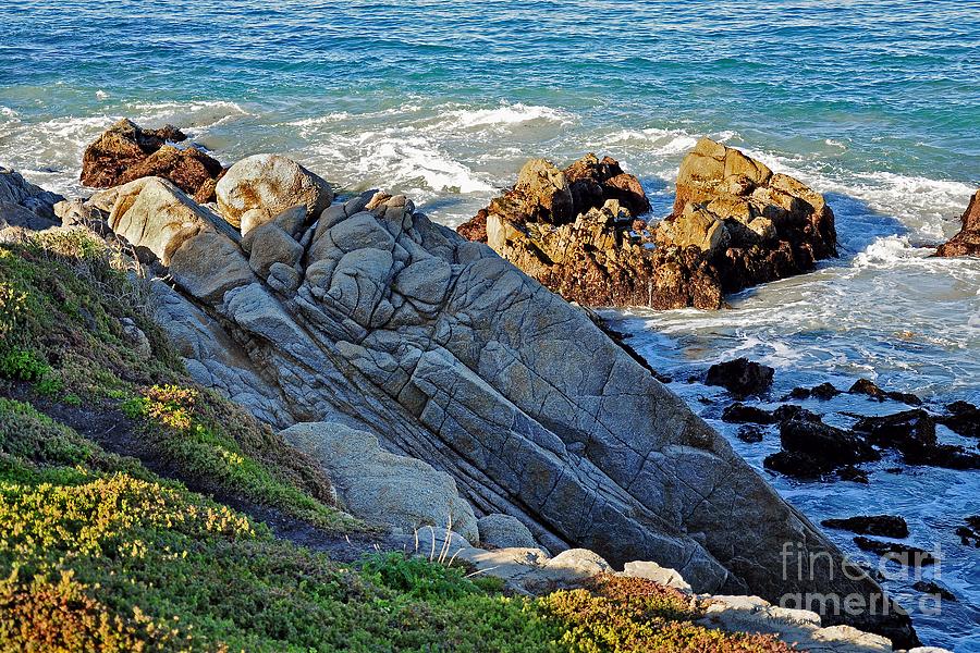 Susan Wiedmann Photograph - Sarcophagus Formation On Seaside Rocks by Susan Wiedmann