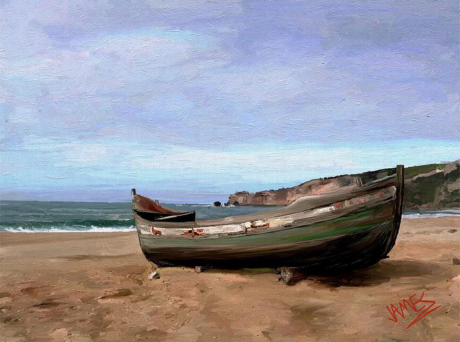 Sardine Boat Painting