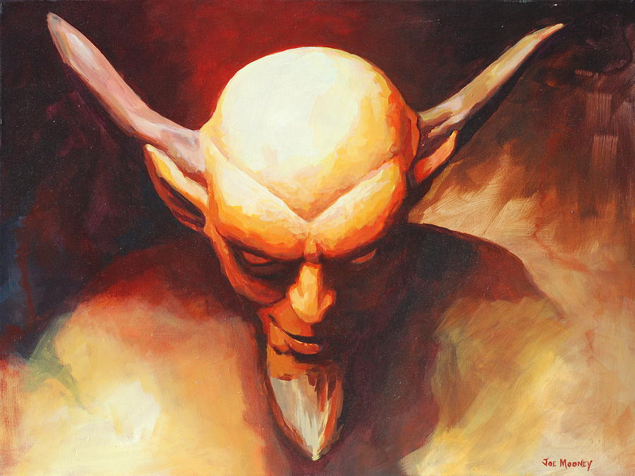 Satan Painting by Joseph Mooney