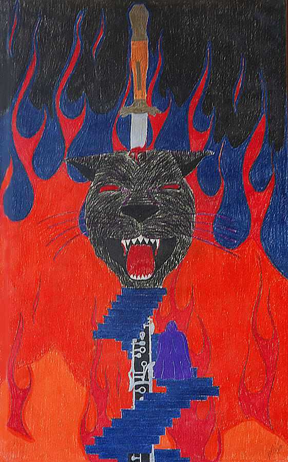 Panther Drawing - Satans Panther by Melanie Schneider