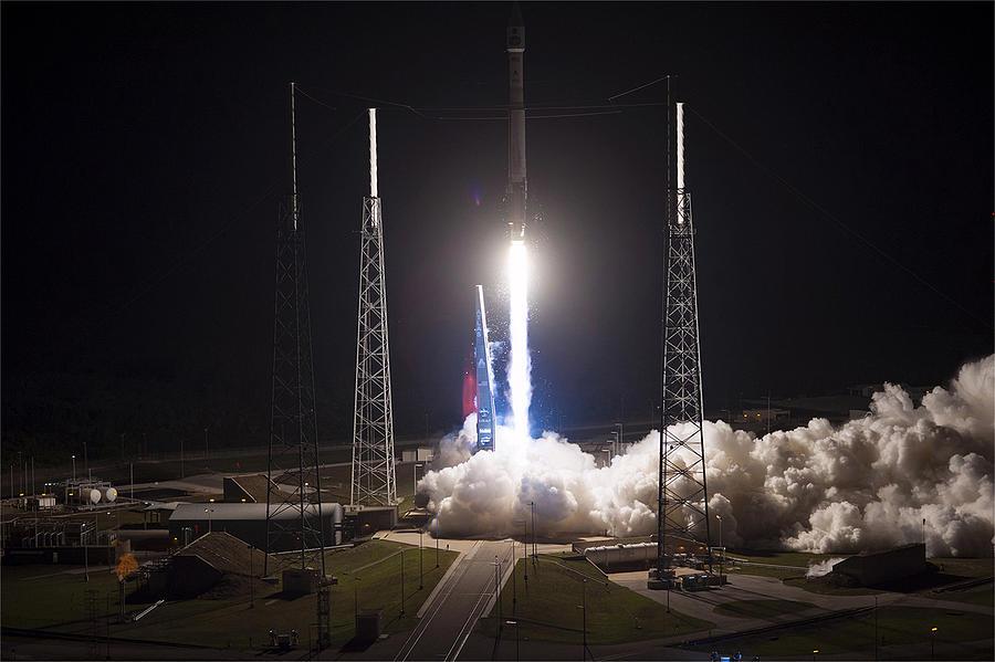Satellite Launch Photograph