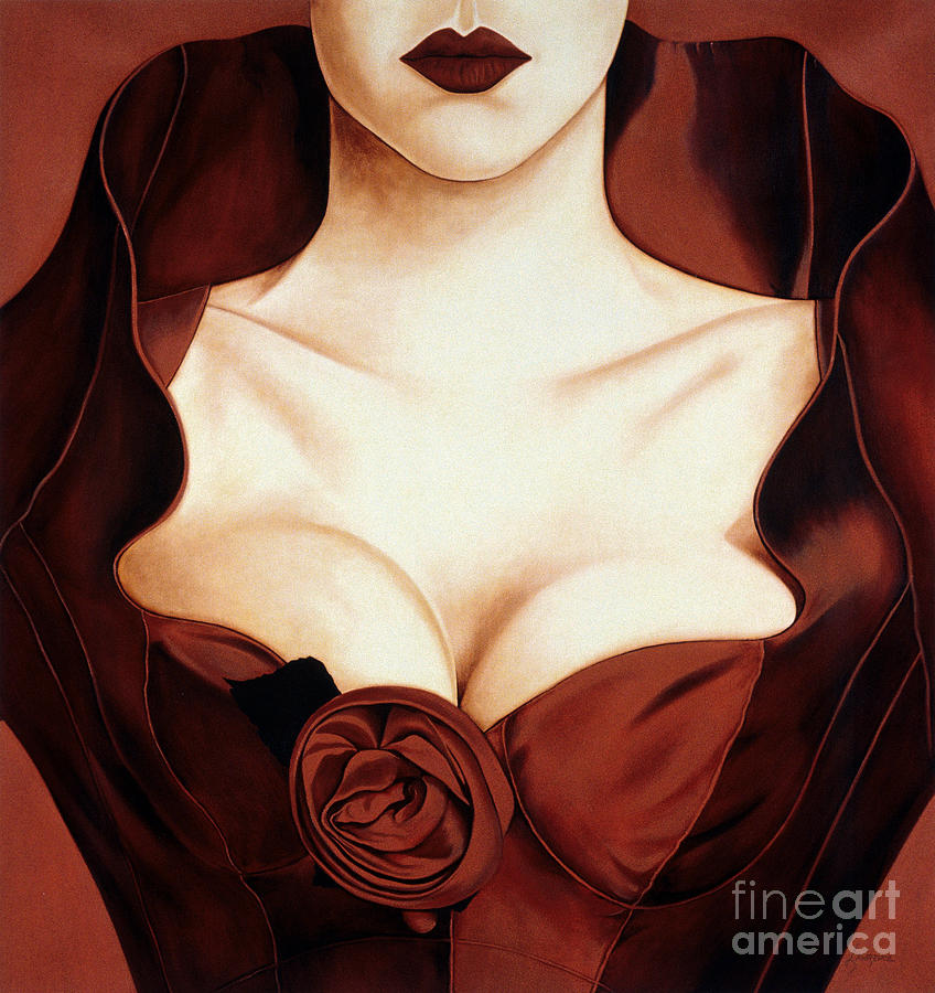 Satin Rose Painting  - Satin Rose Fine Art Print