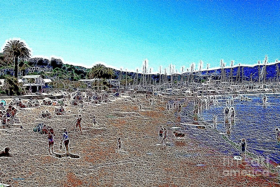 Sausalito Beach Sausalito California 5d22696 Artwork Photograph  - Sausalito Beach Sausalito California 5d22696 Artwork Fine Art Print
