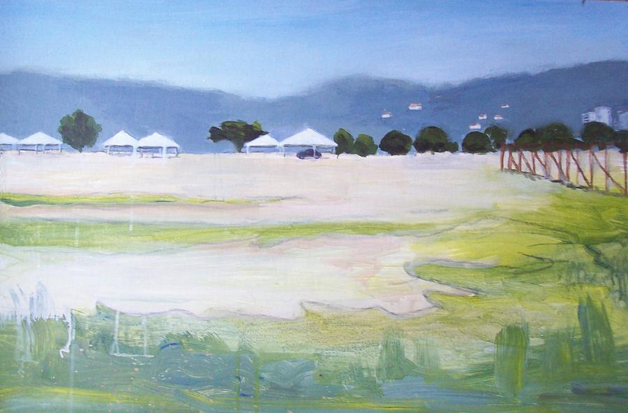 Savannah With Tents Painting
