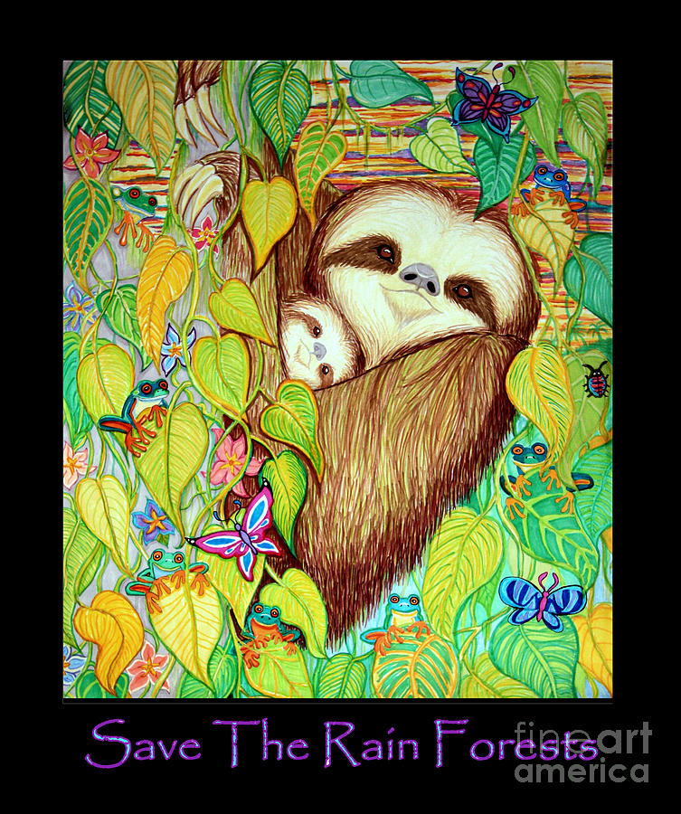 Save The Rain Forests Drawing By Nick Gustafson