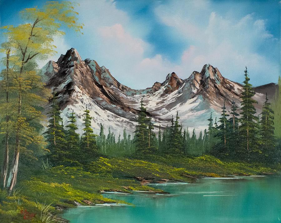 Landscape Painting - Sawtooth Saddle by C Steele