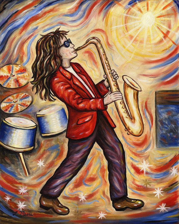 Sax Man Painting