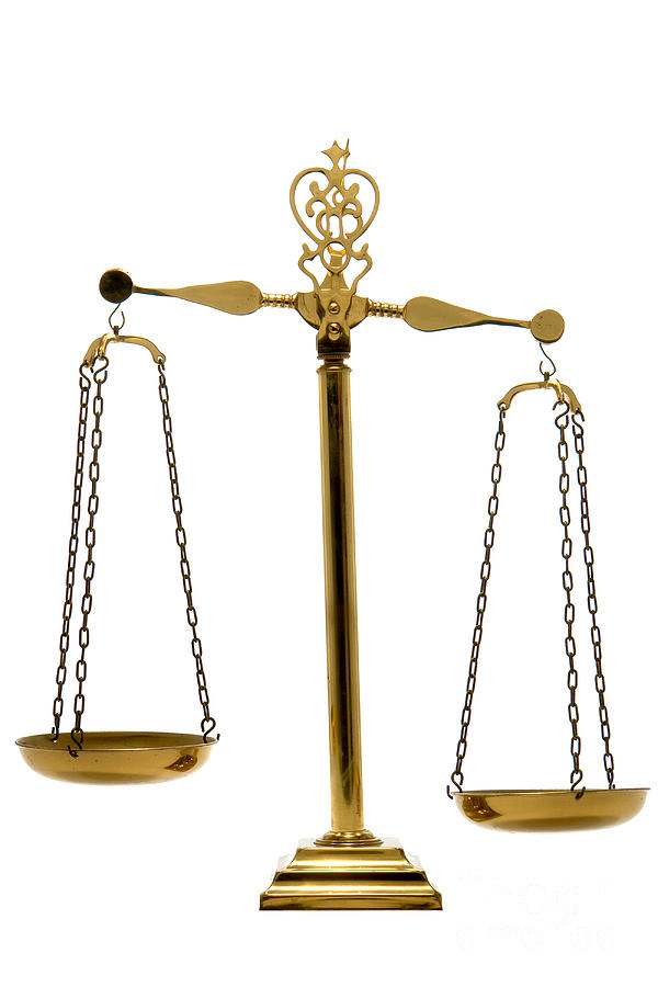Scale Of Justice Photograph