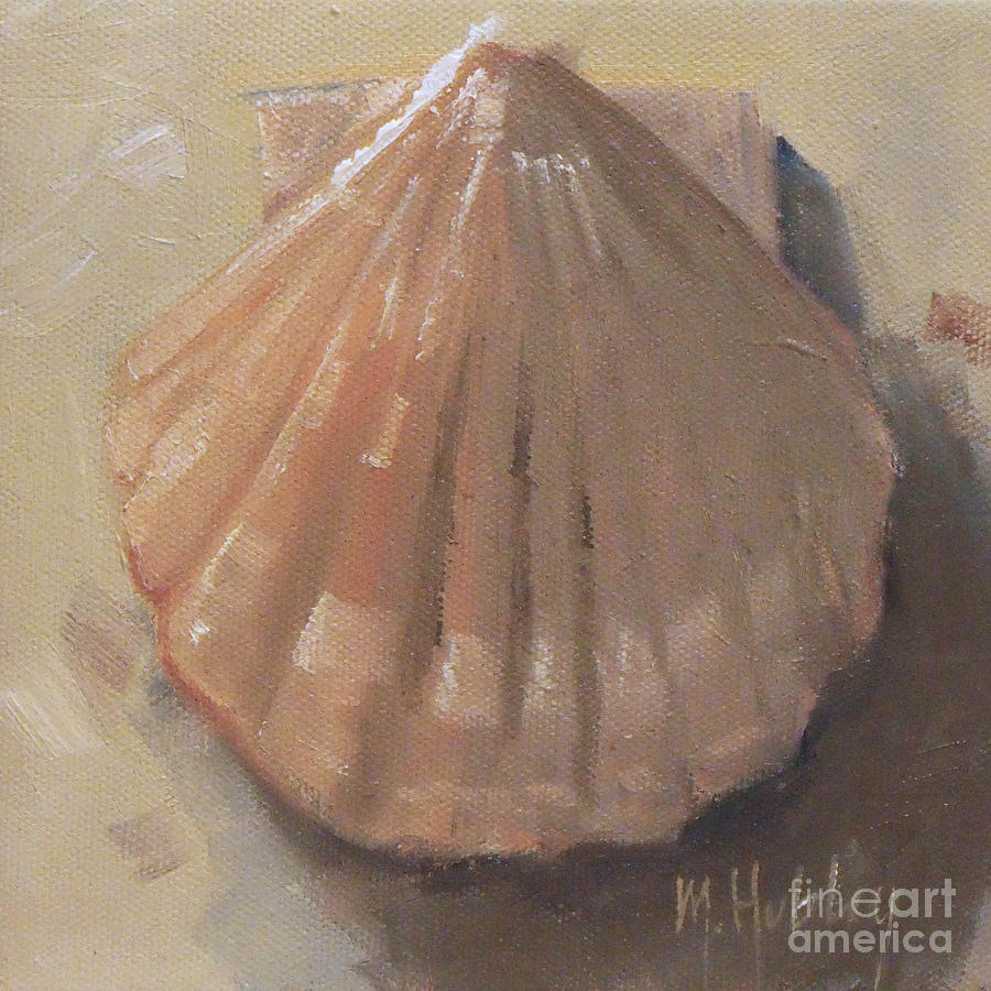 Scallop Shell Beach Seashell Painting by Mary Hubley