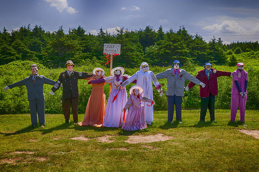 Scarecrow Wedding Photograph