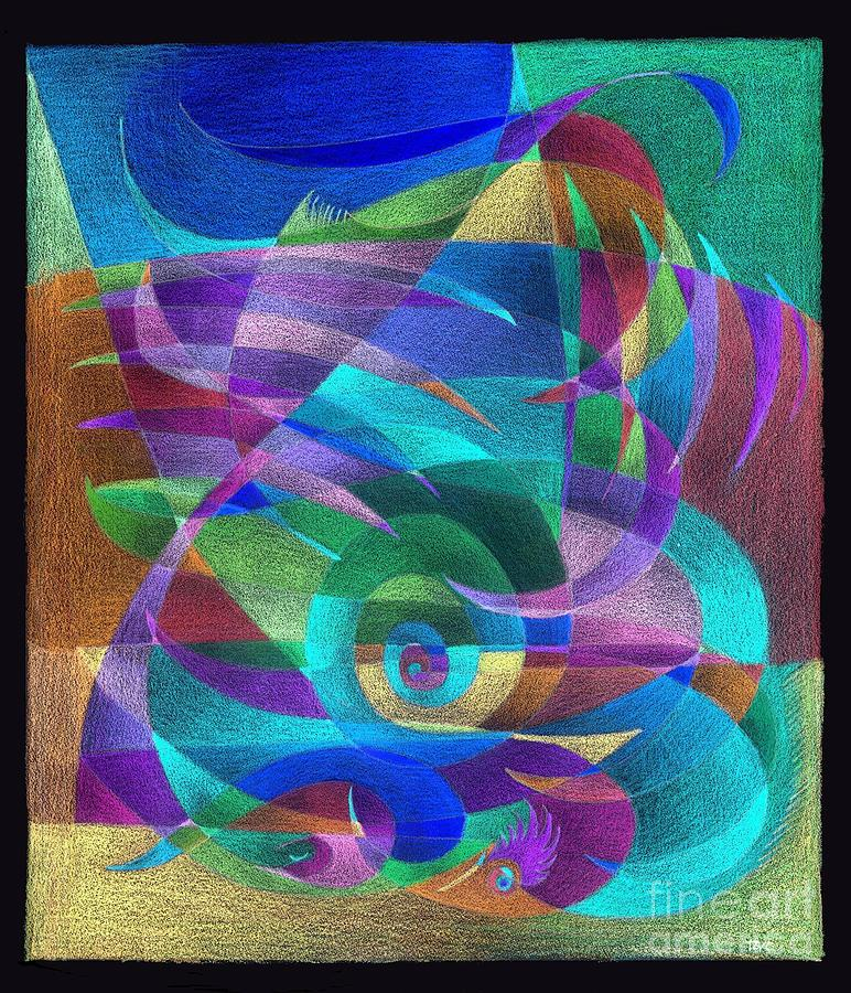 scarf pattern cactus inverted colors painting by tatyana