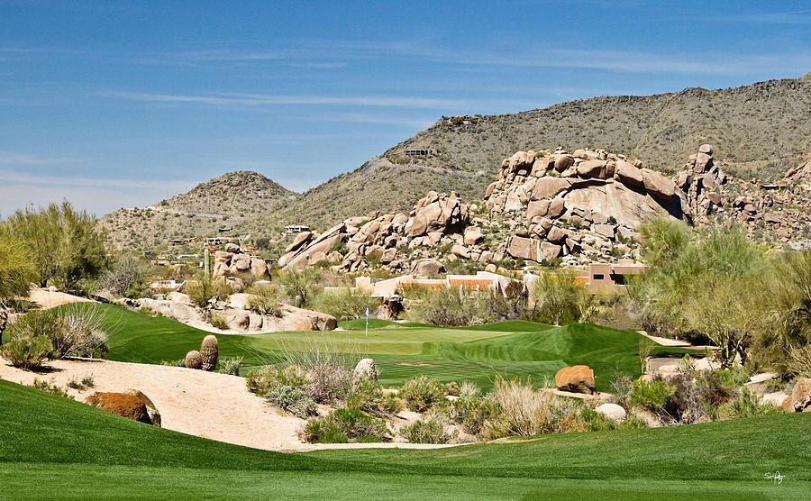 Golf Photograph - Scenic Approach by Scott Pellegrin
