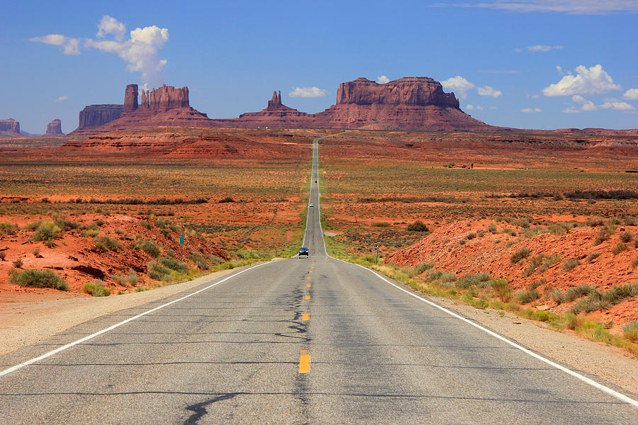 Scenic Road Into Monument Valley Photograph