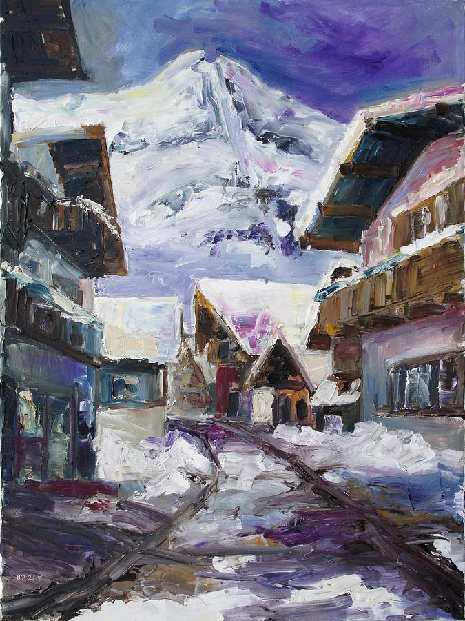 Alps Painting - Schattberg Austrian Alps by Barbara Pommerenke
