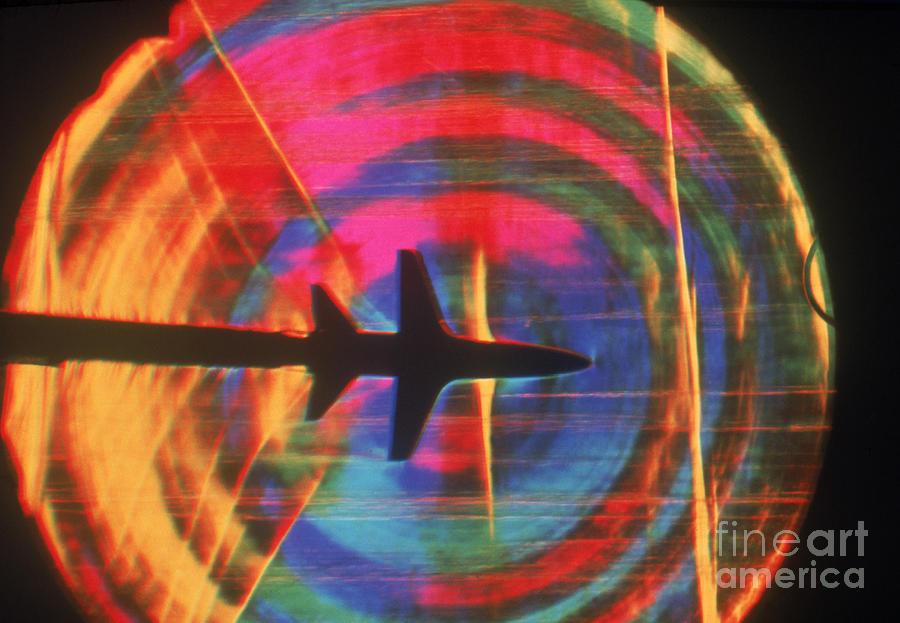 Shock Wave Photograph - Schlieren Image Of Aircraft by Garry Settles