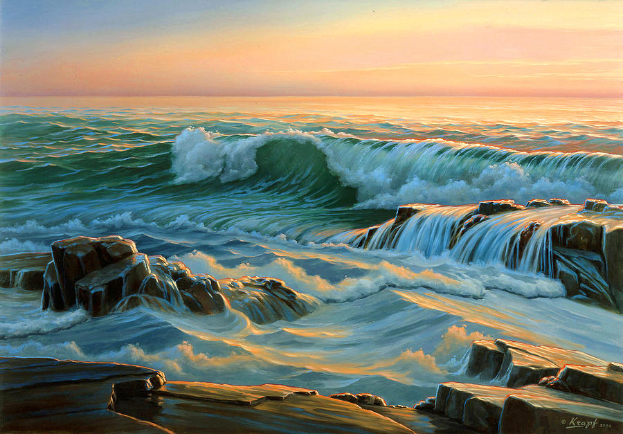 Seascape Painting - Schoodic Point Before Sunrise  by Paul Krapf