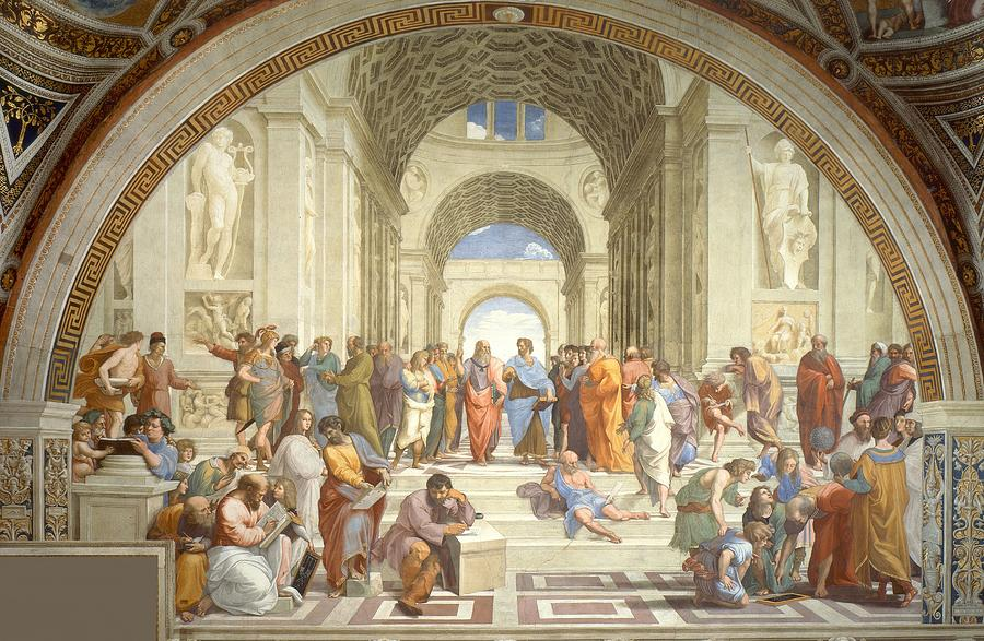 School Of Athens Painting  - School Of Athens Fine Art Print
