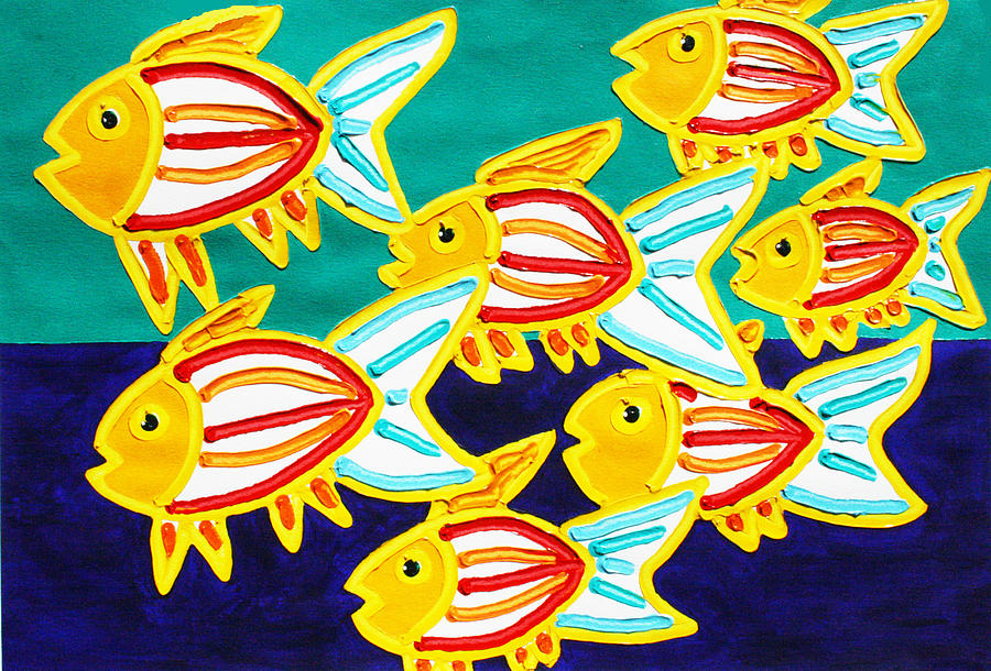 School Of Fish Painting  - School Of Fish Fine Art Print