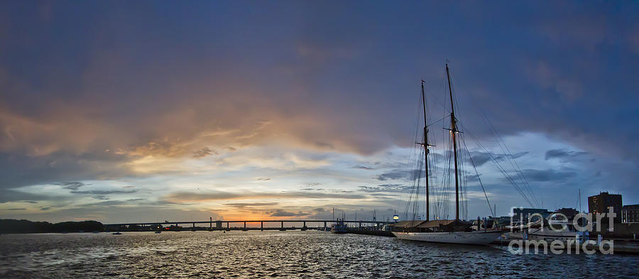Schooner Germania Nova Sunset Photograph