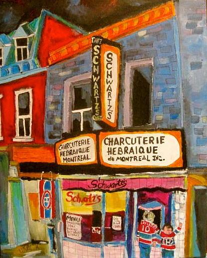 Schwartzs And Hockey Painting