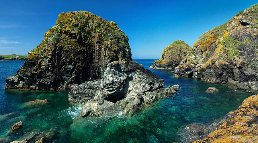 Scovarn Rock At Mullion Photograph