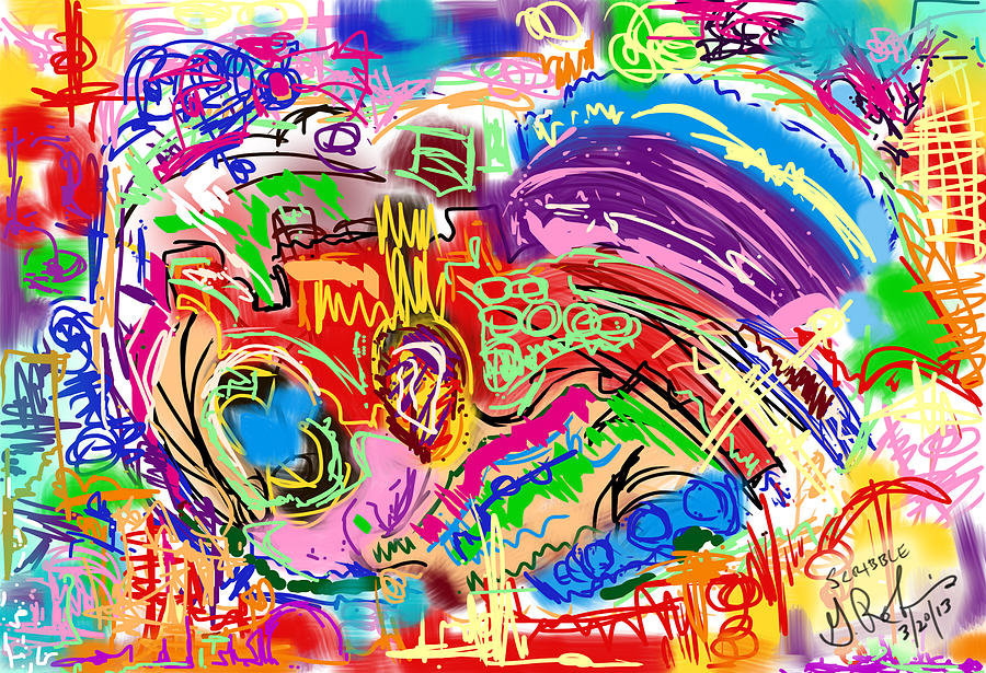 Design Painting - Scribble by Gerry Robins